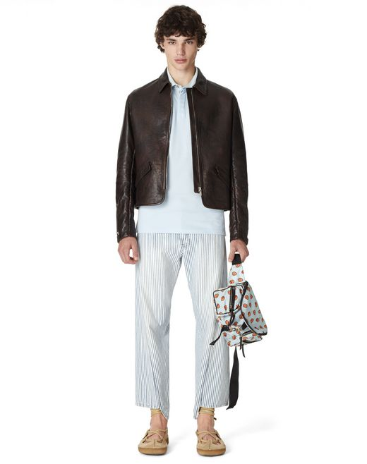 LEATHER BIKER JACKET - Lanvin