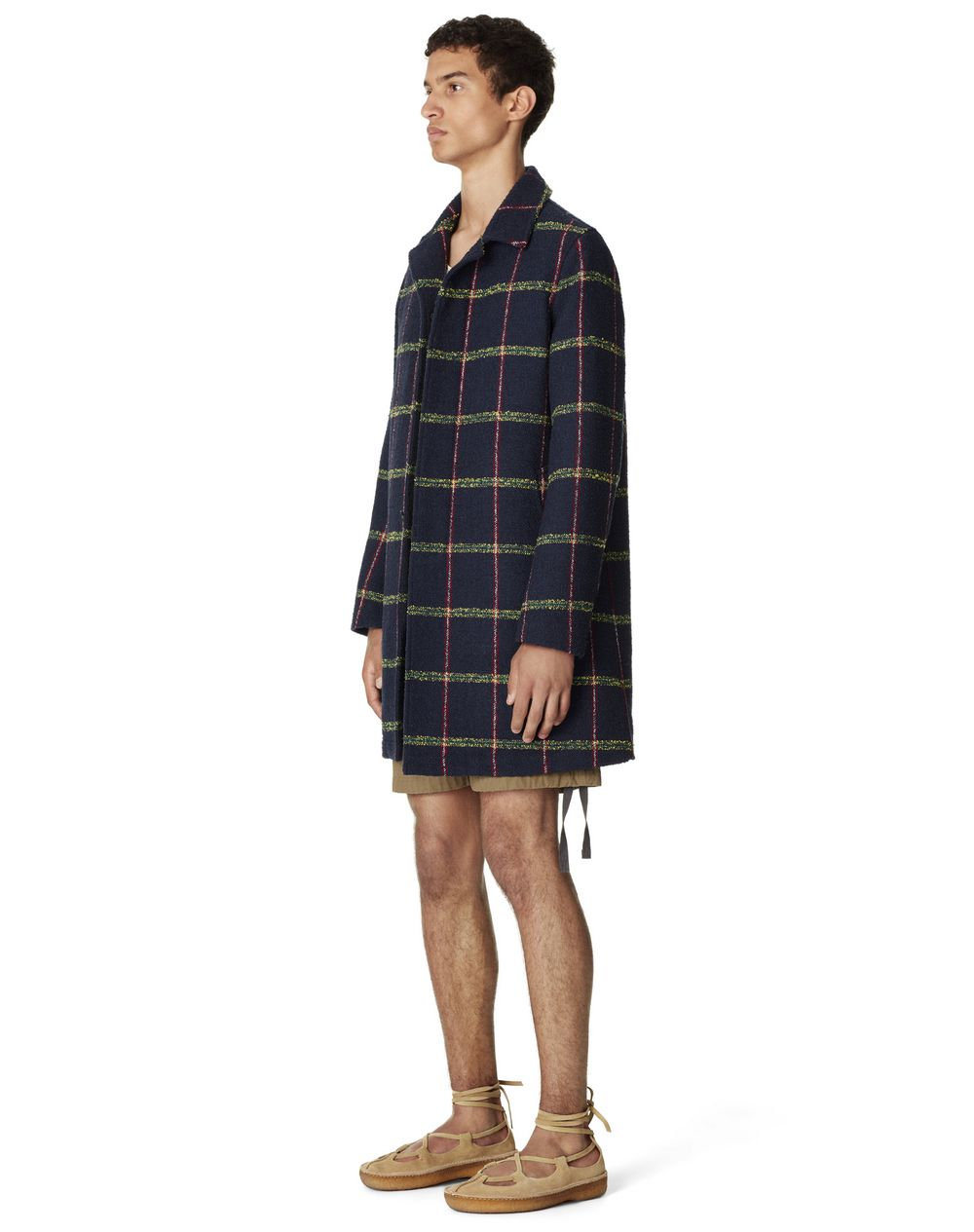 MID-LENGTH CHECKED PEA COAT  - Lanvin
