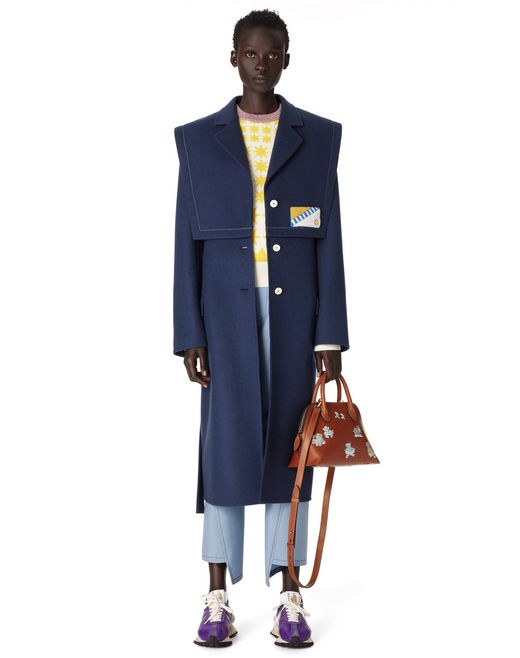 BELTED WOOL AND CASHMERE COAT - Lanvin
