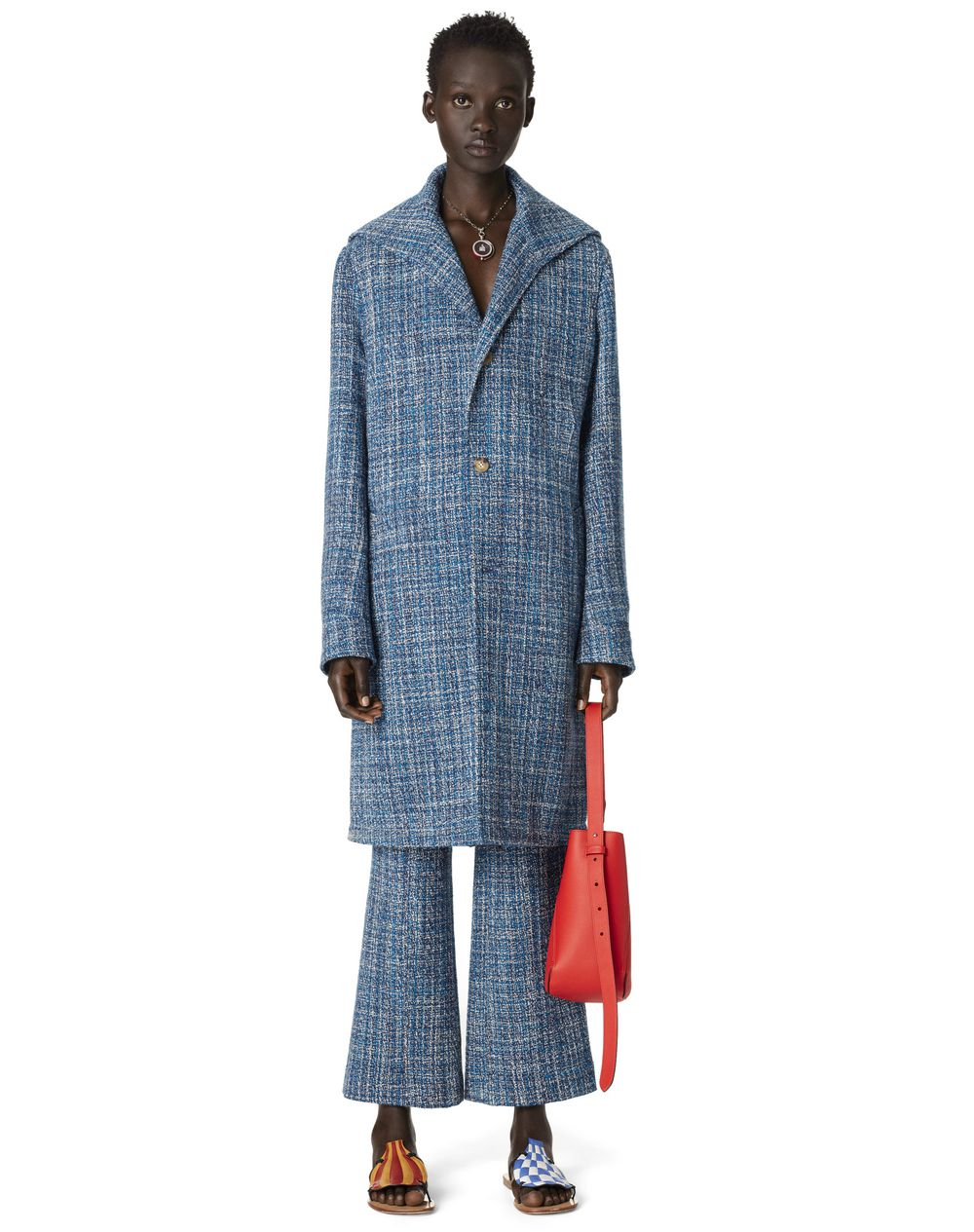 TWEED COAT WITH SAILOR COLLAR - Lanvin