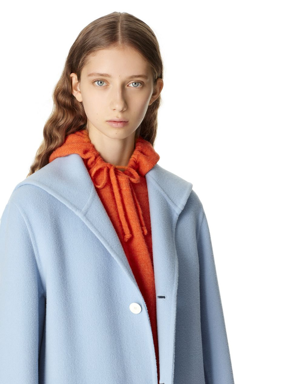 COAT WITH SAILOR COLLAR IN WOOL AND CASHMERE  - Lanvin