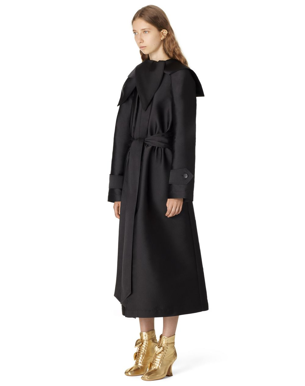 BELTED TRENCH COAT WITH SCARF COLLAR - Lanvin