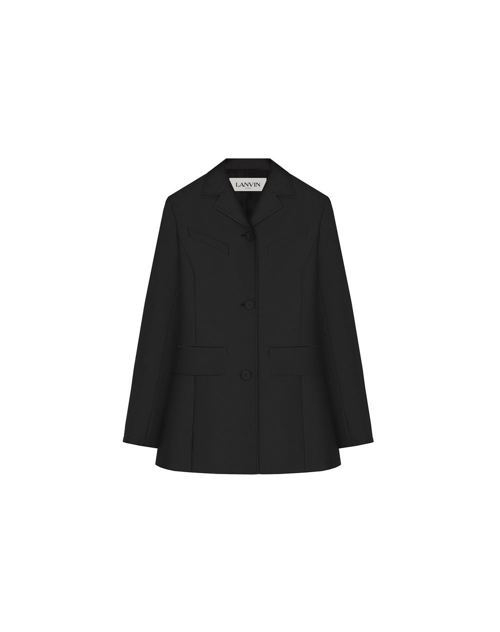 SATIN-EFFECT WAISTED TAILORED JACKET  - Lanvin