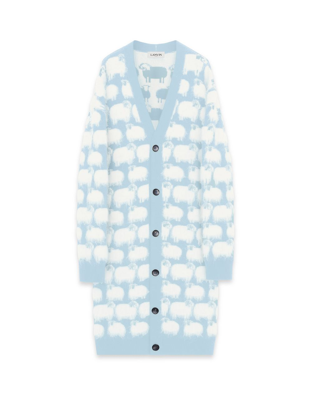 LONG OVERSIZE SHEEP CARDIGAN - Lanvin