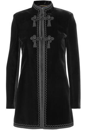 DOLCE & GABBANA Tassel-trimmed embroidered velvet jacket