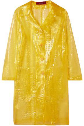 SIES MARJAN Mie croc-effect vinyl coat