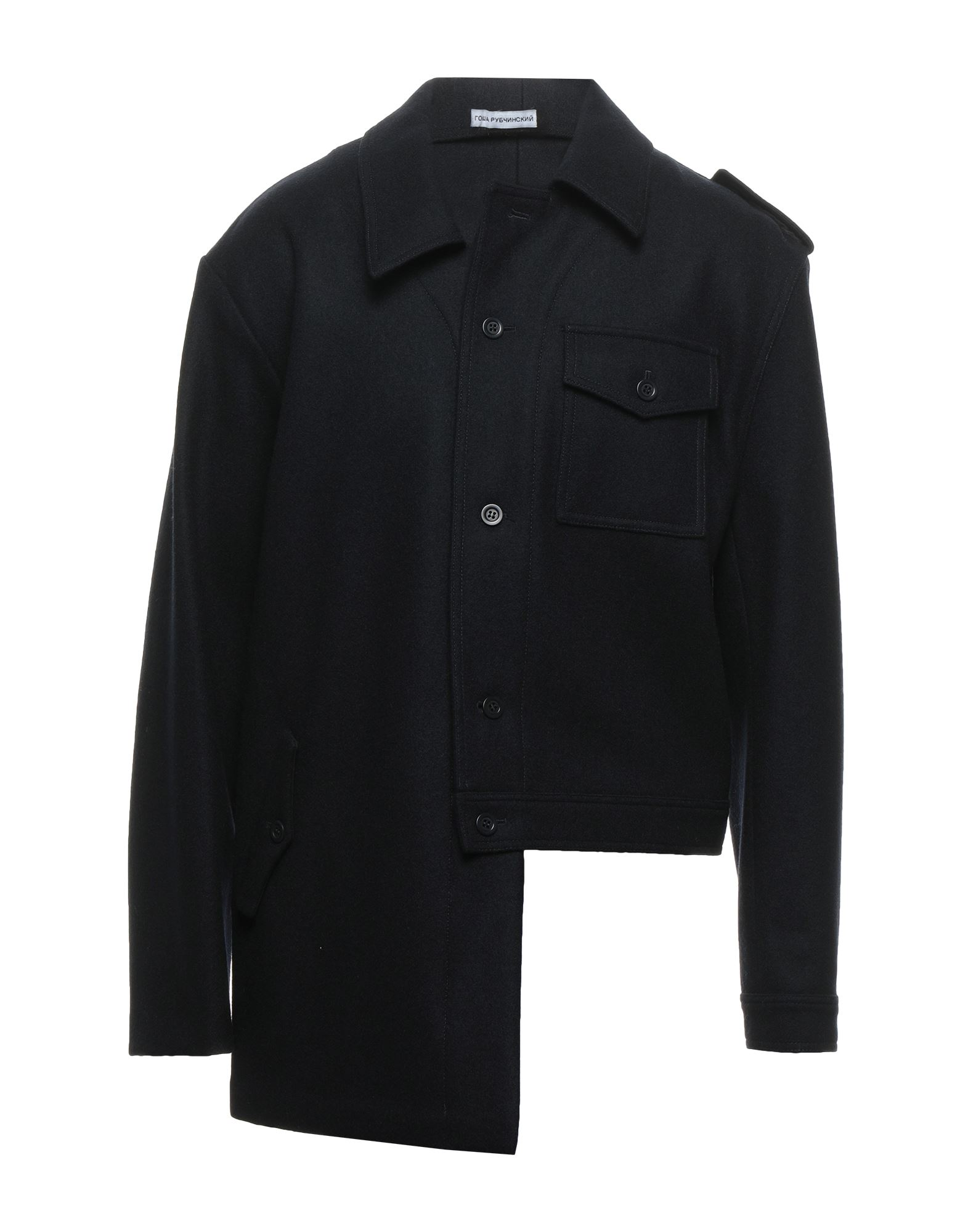 Gosha Rubchinskiy Overcoats In Dark Blue