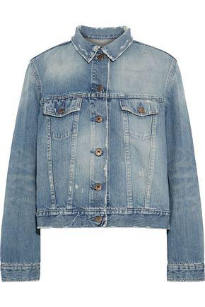 SIMON MILLER Zola distressed denim jacket