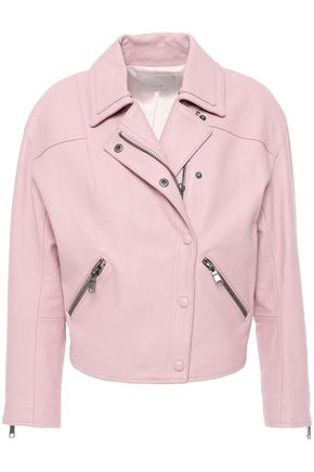 JOIE Pebbled-leather biker jacket