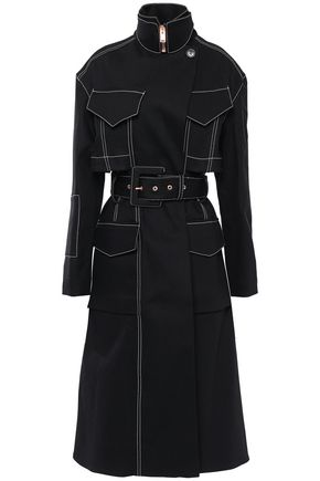 PROENZA SCHOULER Belted cotton-blend gabardine trench coat