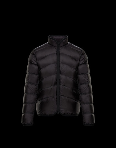 FLAVIEN Black Down Jackets Man