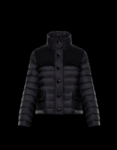 LUNAIRE Black Short Down Jackets Woman