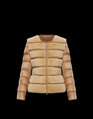 CANNELLE Camel Short Down Jackets Woman