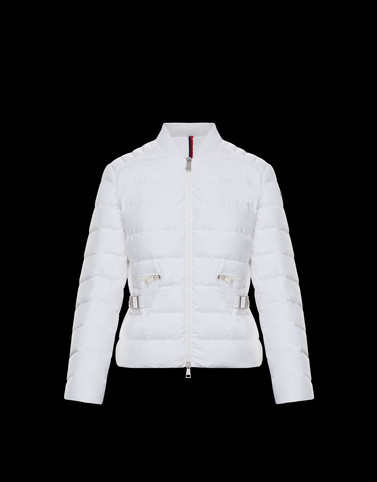 CAFE White Short Down Jackets Woman