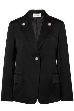 WALES BONNER Holkar embellished cotton-blend crepe de chine blazer