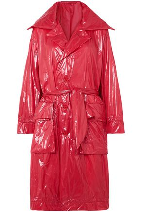 BEN TAVERNITI™ UNRAVEL PROJECT Belted shell raincoat
