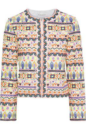 ALICE + OLIVIA Kidman cropped embellished woven jacket
