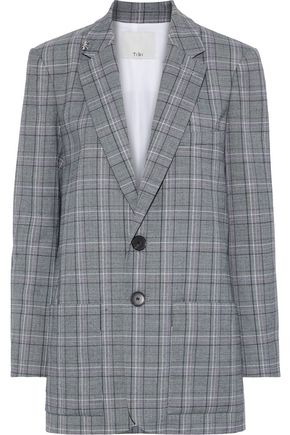 TIBI James embellished checked jacquard blazer