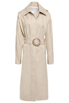 JOSEPH Belted cotton-gabardine hooded trench coat