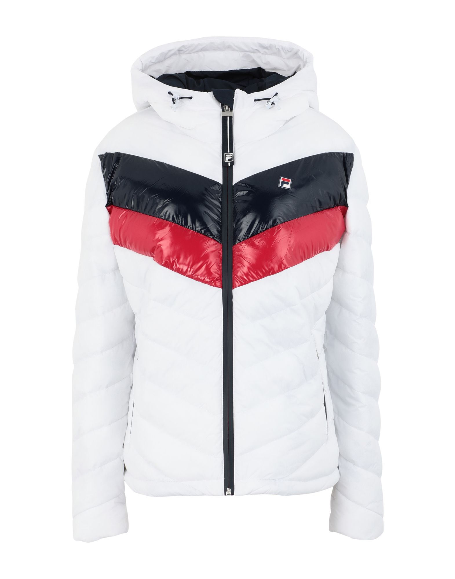 《セール開催中》FILA HERITAGE レディース 合成繊維中綿アウター ホワイト S ナイロン 100% WOMEN SASSY quilted jacket