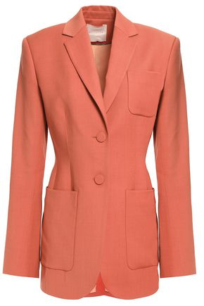 ROKSANDA Paneled two-tone twill blazer