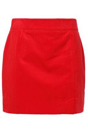 BELLA FREUD تنورة قصيرة من قماش كوردروي القطني