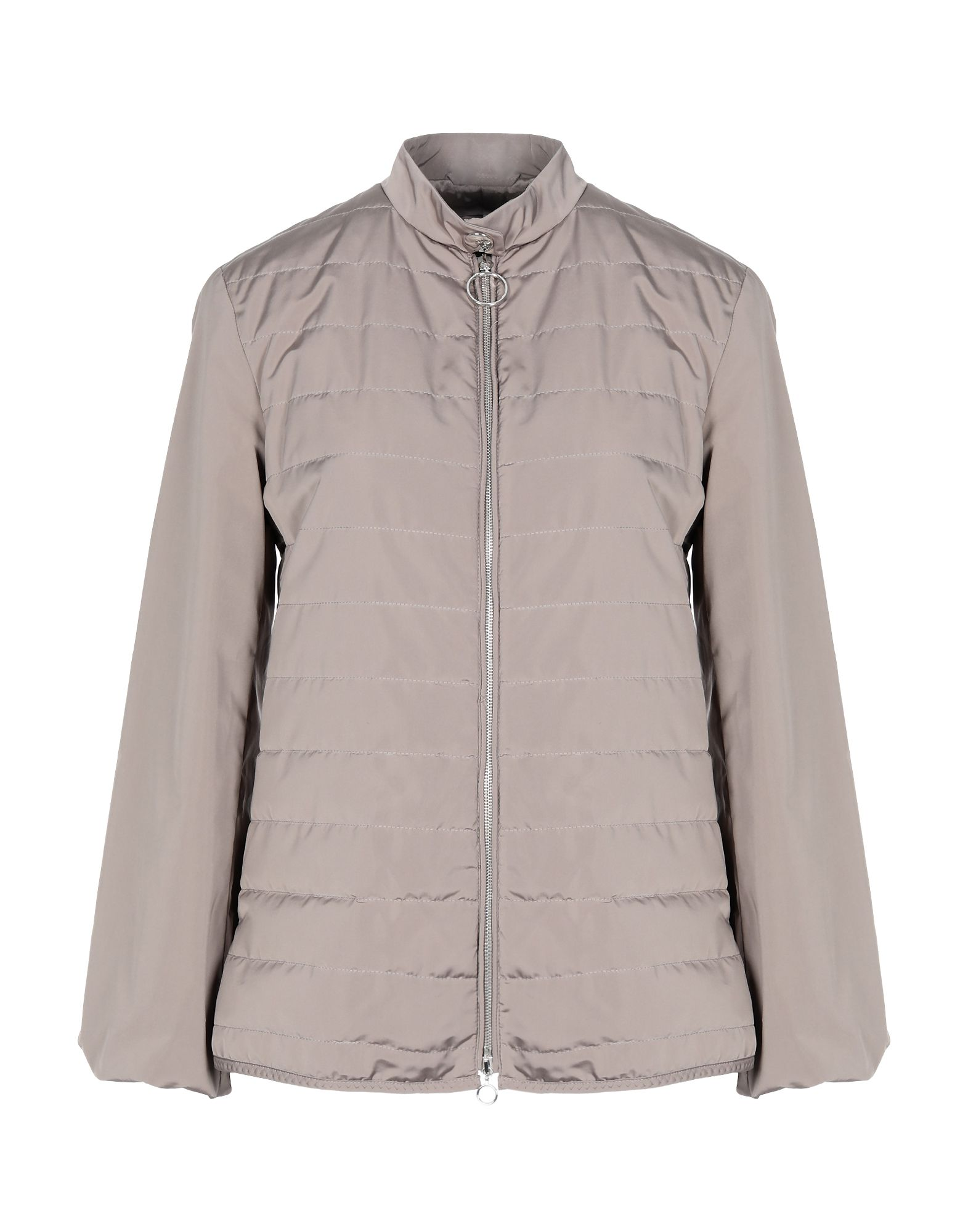ELEVENTY Synthetic Down Jackets. techno fabric, no appliqués, basic solid color, zip, single-breasted, turtleneck, multipockets, long sleeves, internal padding. 74% Polyester, 26% Acetate