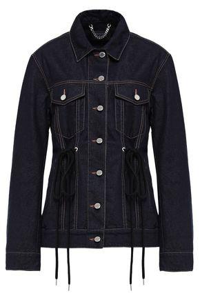 MARKUS LUPFER Cara tie-detailed denim jacket