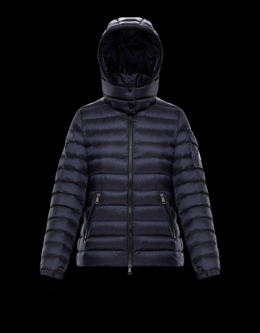 BLEU Dark blue Short Down Jackets Woman