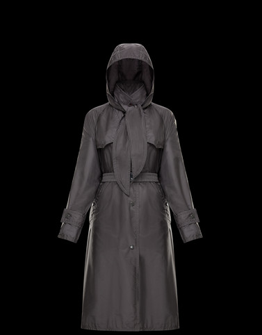 VANILLE Dark grey Coats & Trench Coats Woman
