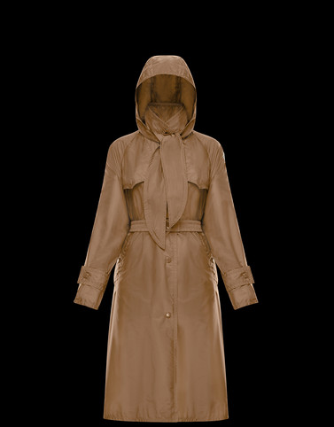 VANILLE Camel Category Raincoats Woman
