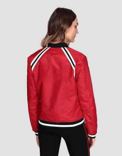 Women's padded bomber jacket