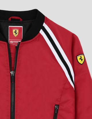 Scuderia Ferrari Online Store - Girls' padded bomber jacket in water repellent fabric - Field Jackets