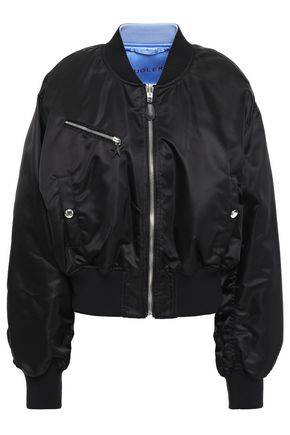 MUGLER Reversible shell bomber jacket