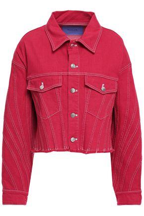 MUGLER Frayed denim jacket