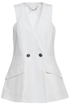GIVENCHY Double-breasted cotton-ottoman vest