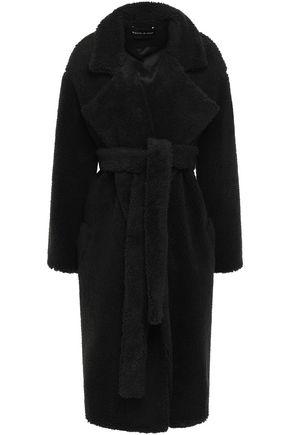MICHAEL LO SORDO Belted faux fur coat