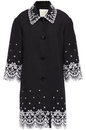 KATE SPADE New York Broderie anglaise cotton-canvas coat