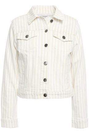 FRAME Le Vintage striped denim jacket