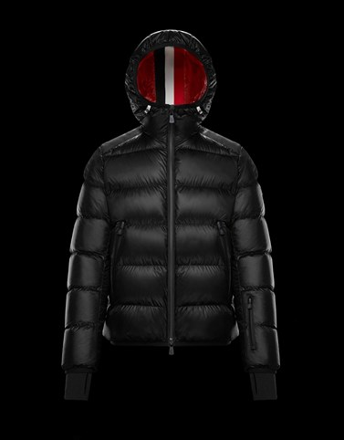 HINTERTUX Black Down Jackets Man