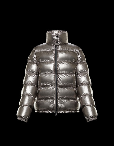 GRIS Grey Short Down Jackets Woman