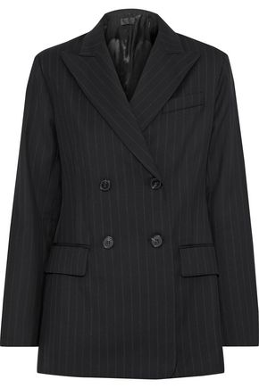 NILI LOTAN Leander double-breasted pinstriped wool blazer