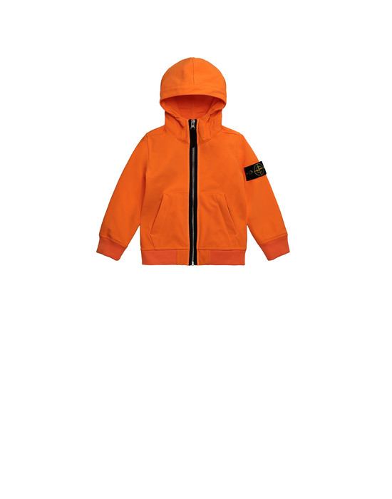 STONE ISLAND JUNIOR 40734 LIGHT SOFT SHELL-R Giubbotto Uomo Arancio fluo
