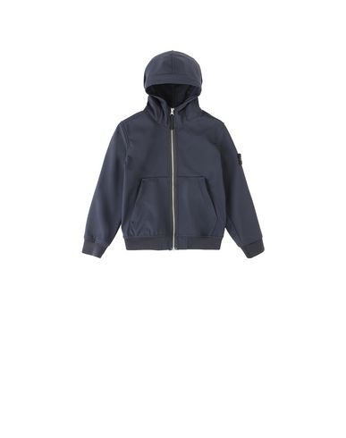 STONE ISLAND KIDS 40734 LIGHT SOFT SHELL-R Jacke Herr Blau EUR 186