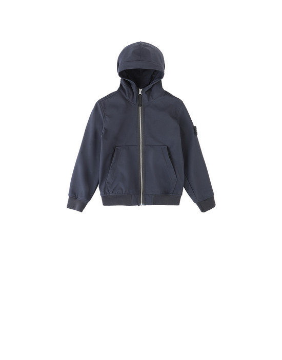 STONE ISLAND JUNIOR 40734 LIGHT SOFT SHELL-R 休闲夹克 男士 蓝色