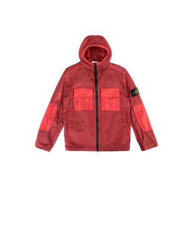 STONE ISLAND KIDS 40235 NYLON METAL WATRO RIPSTOP Jacket Man Coral EUR 328