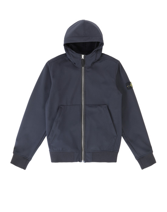 STONE ISLAND JUNIOR 40734 LIGHT SOFT SHELL-R Giubbotto Uomo Blu