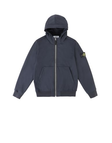 STONE ISLAND JUNIOR 40734 LIGHT SOFT SHELL-R Jacket Man Blue EUR 278