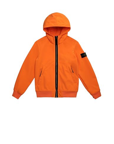 STONE ISLAND JUNIOR 40734 LIGHT SOFT SHELL-R Jacket Man Fluo orange EUR 278
