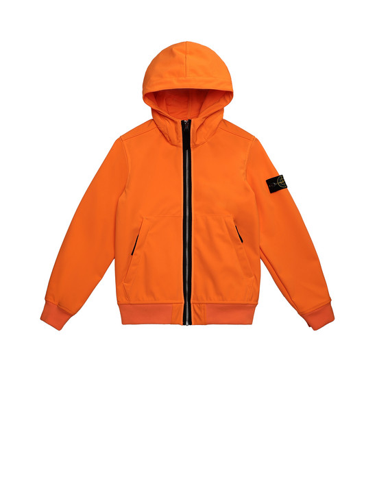 STONE ISLAND JUNIOR 40734 LIGHT SOFT SHELL-R Jacket Man Fluo orange